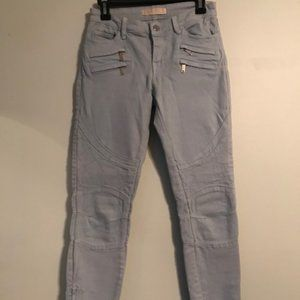 Zara Light Blue Biker Jeans
